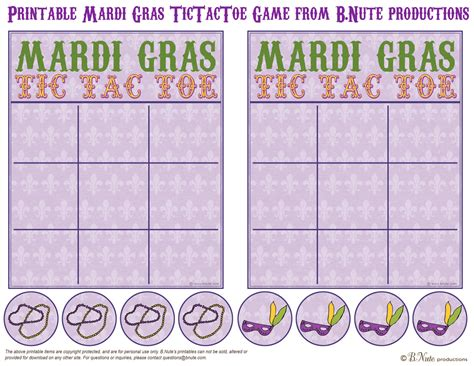 Mardi Gras Worksheets by Bnute Productions February 2012