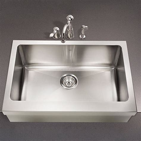 farmhouse single basin kitchen stainless steel sink