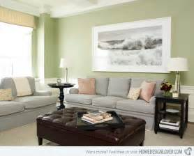 Great Living Room Paint Colors - 15 lovely grey and green living rooms home design lover