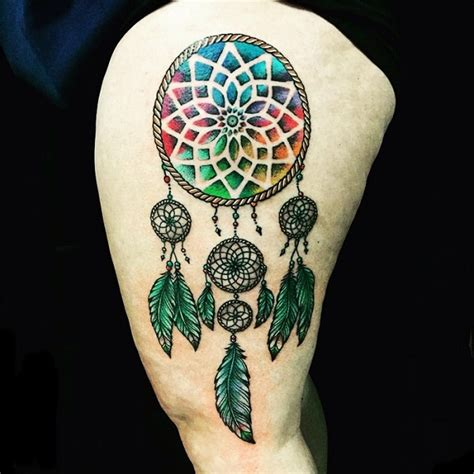colorful dreamcatcher tattoos 50 dreamcatcher designs nenuno creative