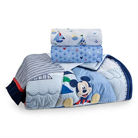 mickey mouse crib bedding set for baby personalizable