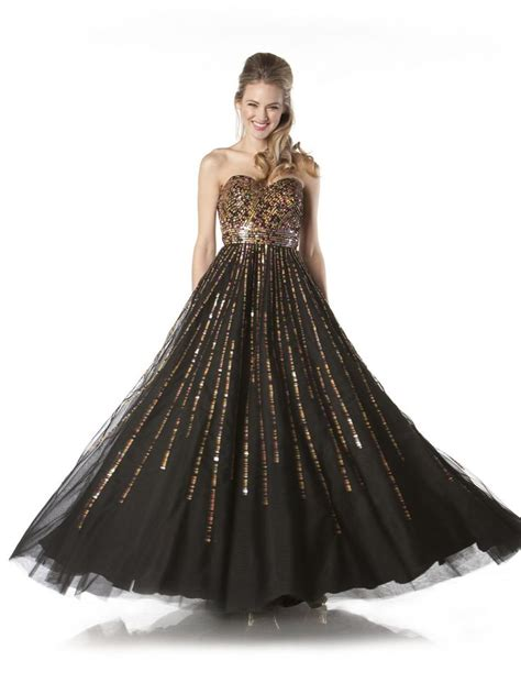 ball gown   sequined sweetheart bodice