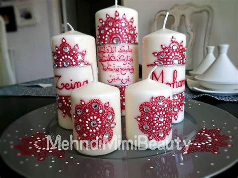 Indian Wedding Home Decoration henna candles set bougies henna