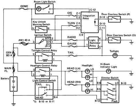 headlight wiring diagram 1988 toyota 43 wiring