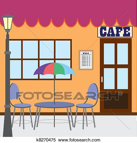 clipart of outside cafe shop k8270475 search clip