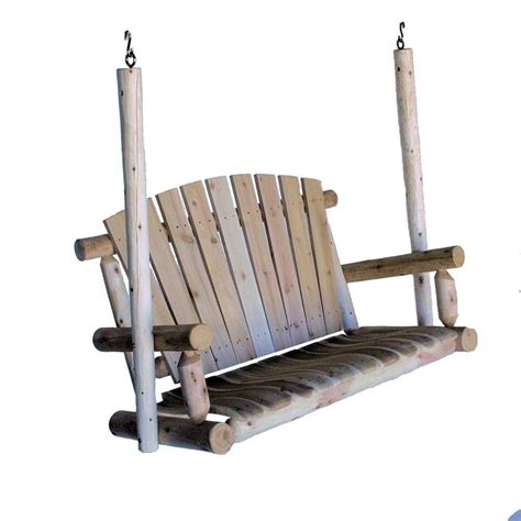 lakeland mills swing 4 ft porch patio swing cf1123 the home depot