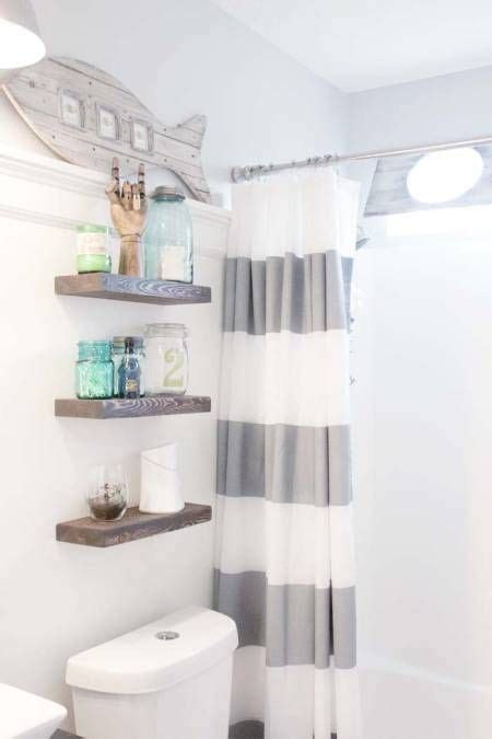 Seaside Bathroom Decorating Ideas - before after this childish bathroom goes glam with