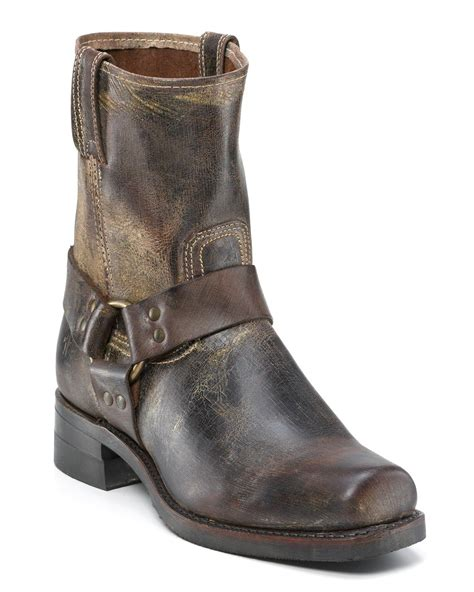 frye boots for frye mens harness 8r boots in brown for chocolate lyst
