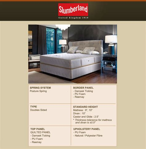 Slumberland Mattress Review Singapore by Slumberland Beds Slumberland Tempo Mattress Product