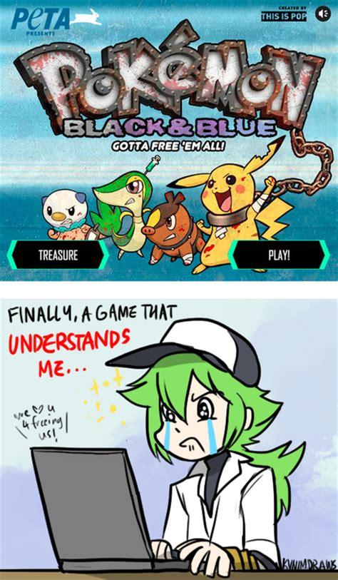 Pokemon Game Memes - image 414762 pok 233 mon black and blue peta pok 233 mon