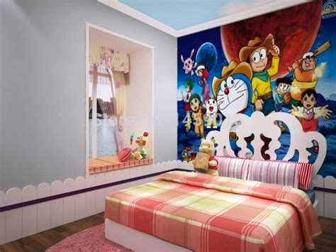Wallpaper Dinding Sk 10 55 10 gambar wallpaper dinding kamar tidur anak motif doraemon