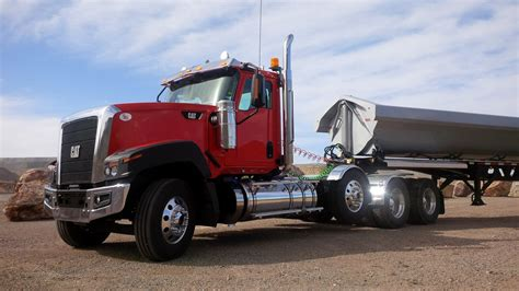 with trailer driving the new cat ct680 vocational truck truck news
