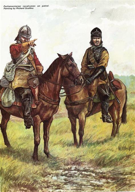 themes of the english civil war parliamentary cavalry on patrol english civil war