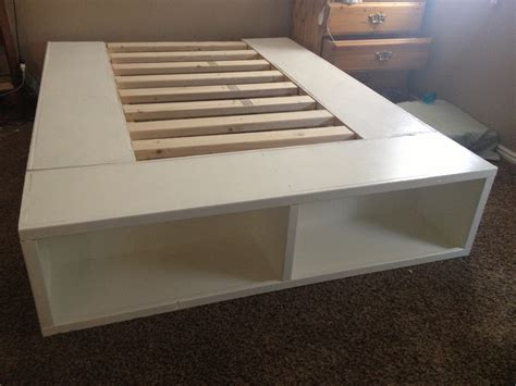 diy bed frame with storage happy huntsman diy storage bed