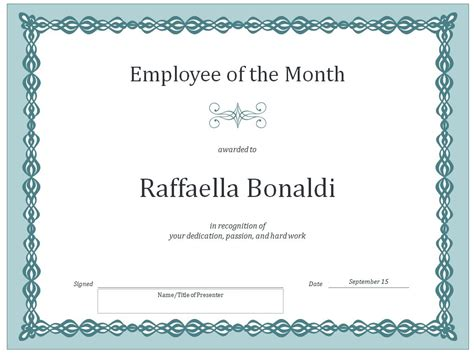 employee certificate template employee of the month certificate template certificate