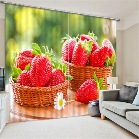 strawberry kitchen curtains get cheap strawberry kitchen curtains aliexpress