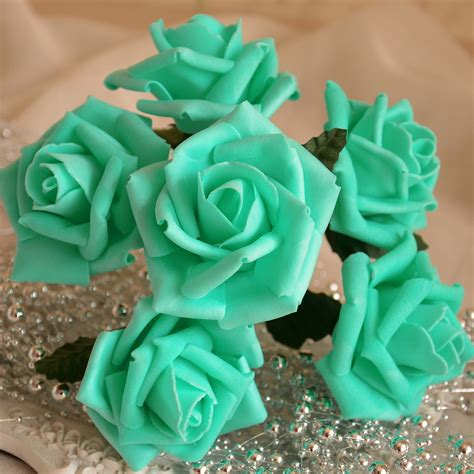 Artificial Flowers For Home Decoration by Popular Turquoise Artificial Flowers Buy Cheap Turquoise