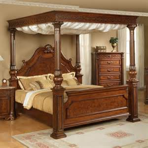 Canopy Bed Wood Wood Canopy Bed Sturdy And Charming Furnishings For The