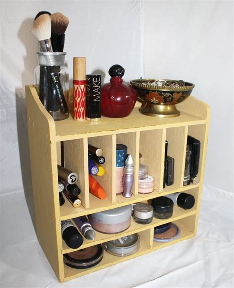 Makeup Organizer Shelf by Vintage Cubby Make Up Cosmetic Organizer Storage
