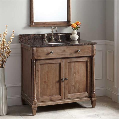 undermount sink bathroom vanity 36 quot neeson vanity for undermount sink rustic brown