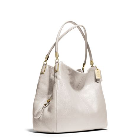 Coach Bag White by Lyst Coach Small Phoebe Shoulder Bag In Leather In White