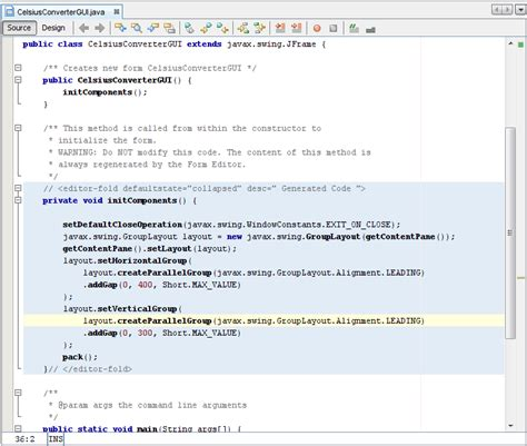learning java swing netbeans ide basics the java tutorials gt creating a gui