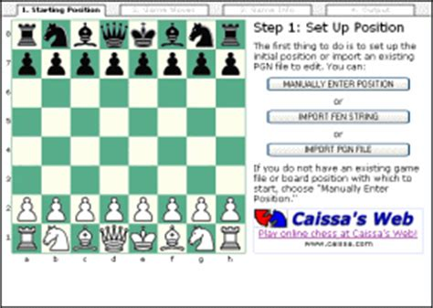 chess diagram editor chess tools caissa s web