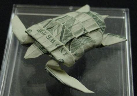 Origami Turtle Dollar Bill - one dollar sea turtle by orudorumagi11 on deviantart