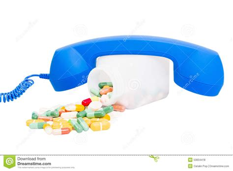Call Pharmacy by Call For Pills Or Pharmacy Contact Stock Photo Image Of