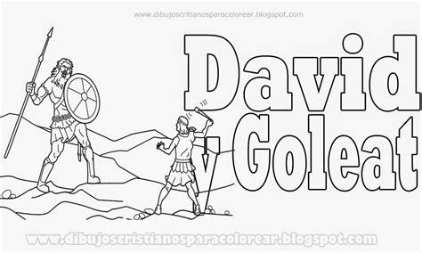 imagenes biblicas de david y goliat david y goliat para colorear dibujos cristianos