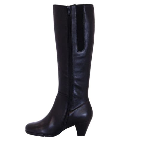black boots gabor boots merissa boot in black leather