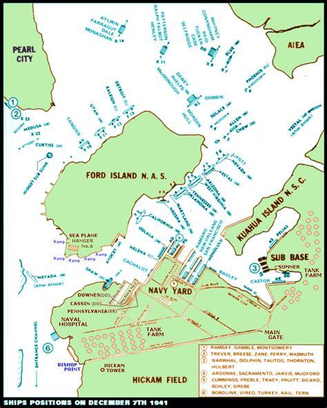 pearl harbor map oahu wwii