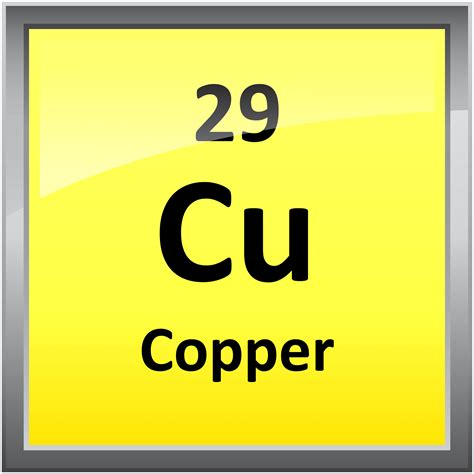 Cu On Periodic Table by 029 Copper Science Notes And Projects