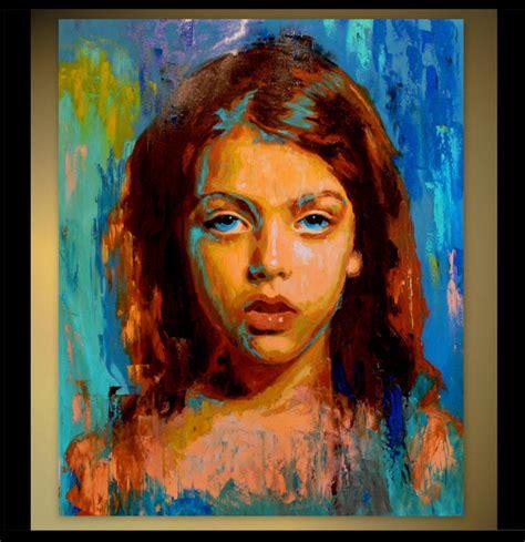 custom portraits custom portrait canvas painting child portrait family