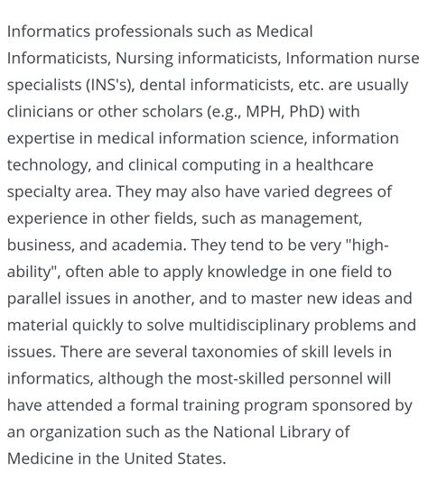 Mba In Health Informatics by Health Care Renewal Mba Holding Informatics Fellow S