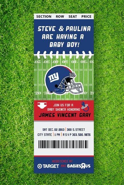 printable nfl tickets printable football baby shower invitation