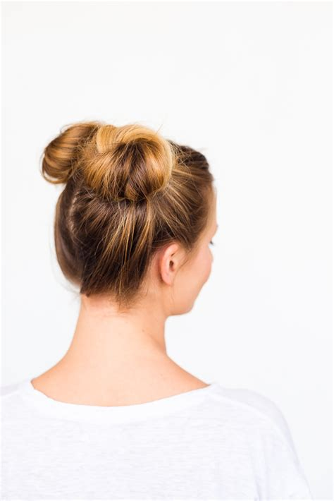 2 minute bubble bun hairstyle easy second day hair 2 buns hairstyle tutorial hairstyles by unixcode