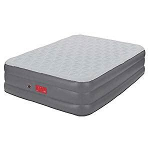 coleman guestrest elite 19 quot pillow top high airbed air mattress with built in
