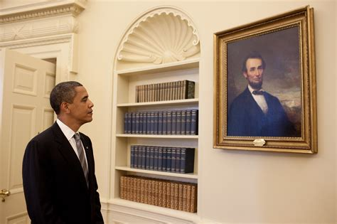 In The Office by Free Domain Image President Barack Obama Looks At