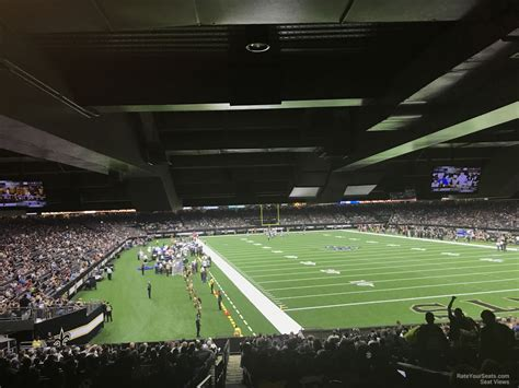 superdome sections superdome section 107 new orleans saints rateyourseats com