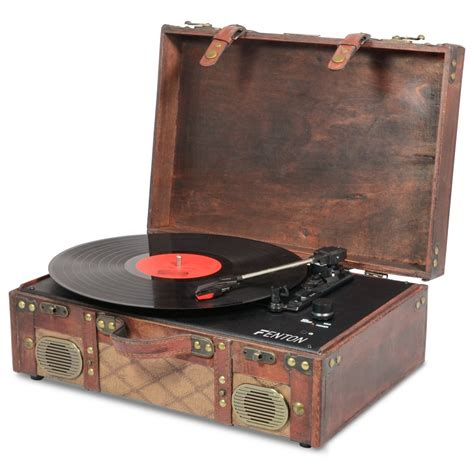 old record player fenton rp140 vintage vinyl record player with usb
