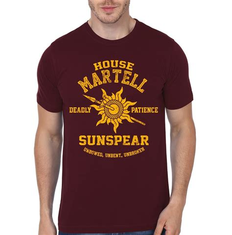 martell house house martell maroon t shirt part 1