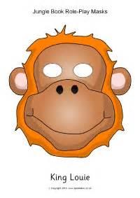 Jungle Mask Templates by Jungle Book Play Masks Sb11545 Sparklebox