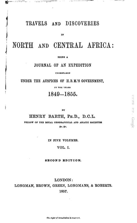 travels and discoveries in and central africa including accounts of tripoli the the remarkable kingdom of bornu and the countries around lake chad classic reprint books barth heinrich 1821 1865 travels and discoveries in