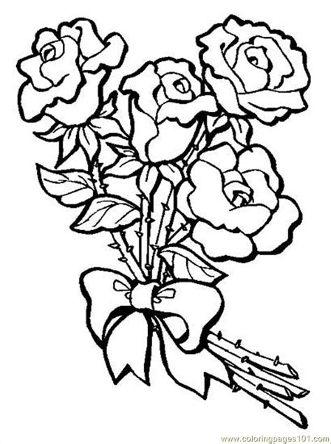 Bouquet Of Roses Coloring Pages coloring pages s bouquet of roses preview world gt flowers free printable coloring
