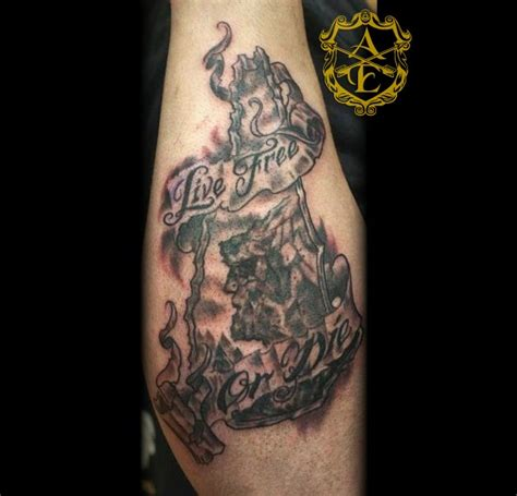 tattoo junkies new hshire new hshire live free or die old man in the mountain
