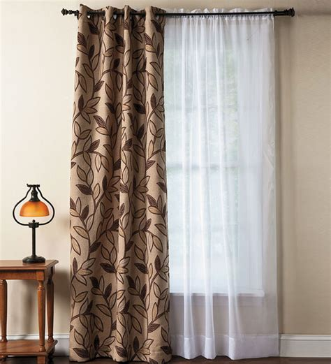 modern grommet curtain panels falling leaf textured grommet curtain panels