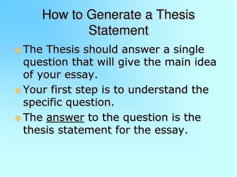 How To Make A Thesis Statement For A Research Paper - ppt thesis statement powerpoint presentation id 7106349