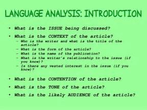 language analysis essays writing a language analysis essay revision