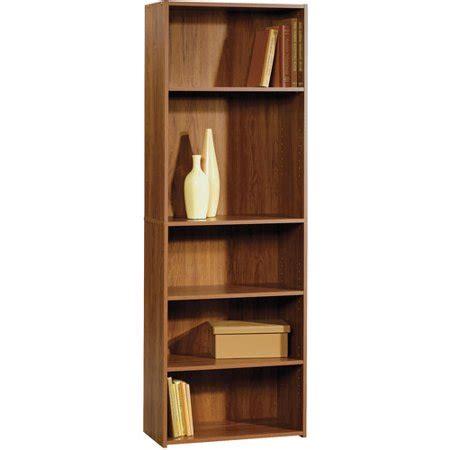 sauder beginnings 5 shelf bookcase pecan walmart